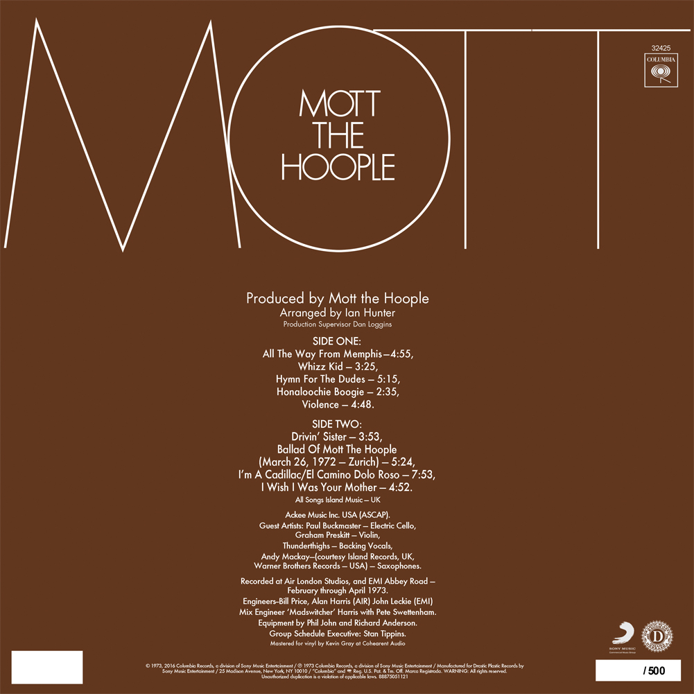 Mott the Hoople - Mott (150 Gram White Color Vinyl)