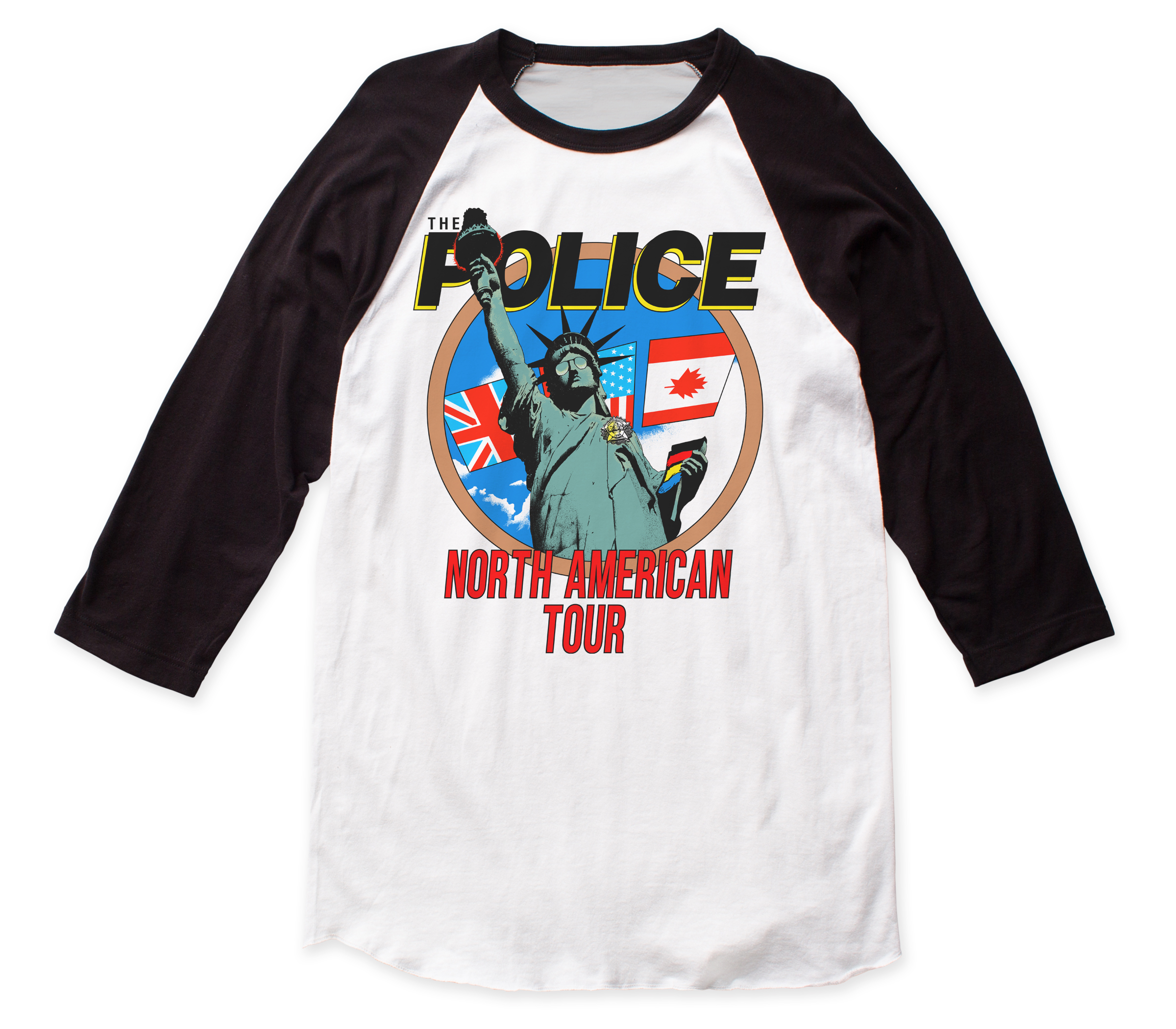 The Police Quot North American Tour Quot Baseball Jersey