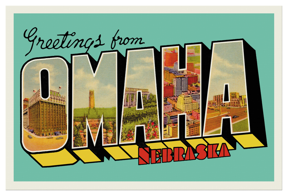 Greetings from omaha postcard m4hsunfo