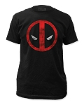 Deadpool distressed logo fitted tee