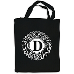 Drastic Plastic Logo Black Canvas Tote Bag