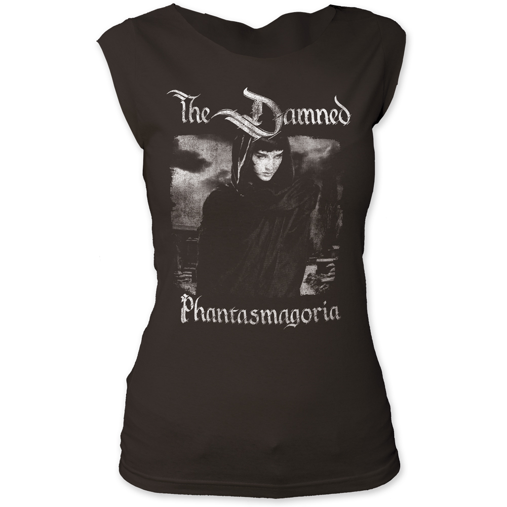 The Damned Phantasmagoria Print Junior's Fitted Cut Tee Shirt