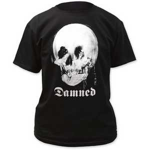 The Damned - Mirror/Skull Classic Fit Black Tee