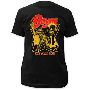 David Bowie 1972 world tour fitted jersey tee
