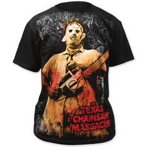 Texas Chainsaw Massacre full-color chainsaw big print subway tee