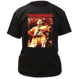 Texas Chainsaw Massacre leatherface & grandpa adult tee