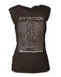 Joy Division Unknown Pleasures Print Junior's Fitted Cut Tee Shirt