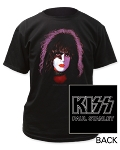 Kiss Paul Stanley Face Paint Print Men's Classic Cotton Shirt