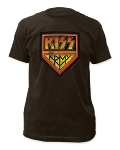 Kiss Distressed Kiss Army Print Men's Slim Cotton Shirt