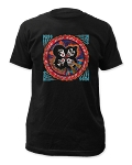 Kiss Distressed Rock And Roll Over Print Men's Slim Cotton Shirt