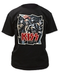 Kiss US TOUR 1976 Print Men's Classic Cotton Shirt