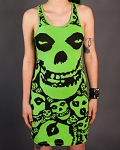 Drastic Plastic Clothing Misfits Dress - Lime Green