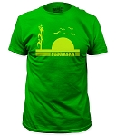Nebraska Cornfield Sunset Green Tee