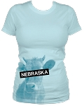 Nebraska Blind Cow Women's Aqua Tee