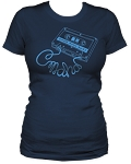Omaha Music Rules Women's Navy Tee