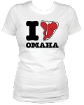 I Steak Omaha Nebraska Women's White Tee