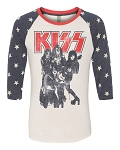 KISS Alternative Apparel Drastic Plastic Exclusive Unisex Raglan