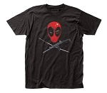 Deadpool Eyepatch Soft Fitted 30/1 Cotton Tee