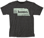 Home. State Nebraska Tee - Grey (Unisex)