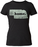 Home. State Nebraska Tee - Black (Women's)