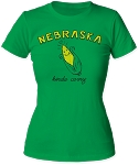 Kind of Corny Nebraska Tee (Women's)