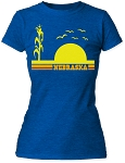 Sunset Silhouette Nebraska Tee (Women's)