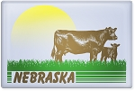 Retro Sunset Cows Nebraska 2.5