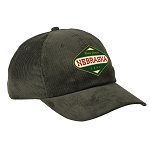 Nebraska Home Grown Olive Corduroy Dad Hat