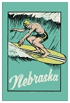 Surfin' in Nebraska Postcard