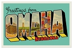 Greetings From Omaha Postcard