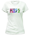 Kiss Kawaii Logo Print Junior's Fitted Cotton Shirt