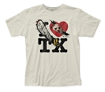 Texas Chainsaw Massacre I heart TX fitted jersey tee