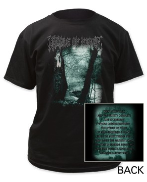 Cradle of Filth dusk is unveiled adult tee