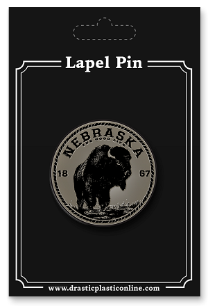 The Good Life Bison Seal Lapel Enamel Pin