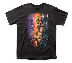 Avengers Infinity War Poster Traditional Fit 18/1 Cotton Tee