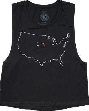 State Outline Heart Nebraska Muscle Tank (Women's)