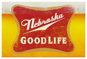 Good Life Nebraska Beer Postcard