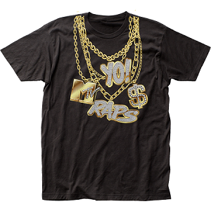 Yo! MTV Raps Gold Chains fitted jersey tee