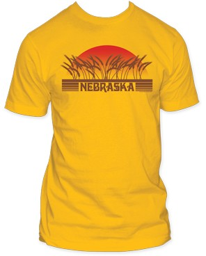 Nebraska Wheatfield Sunset Orange Tee