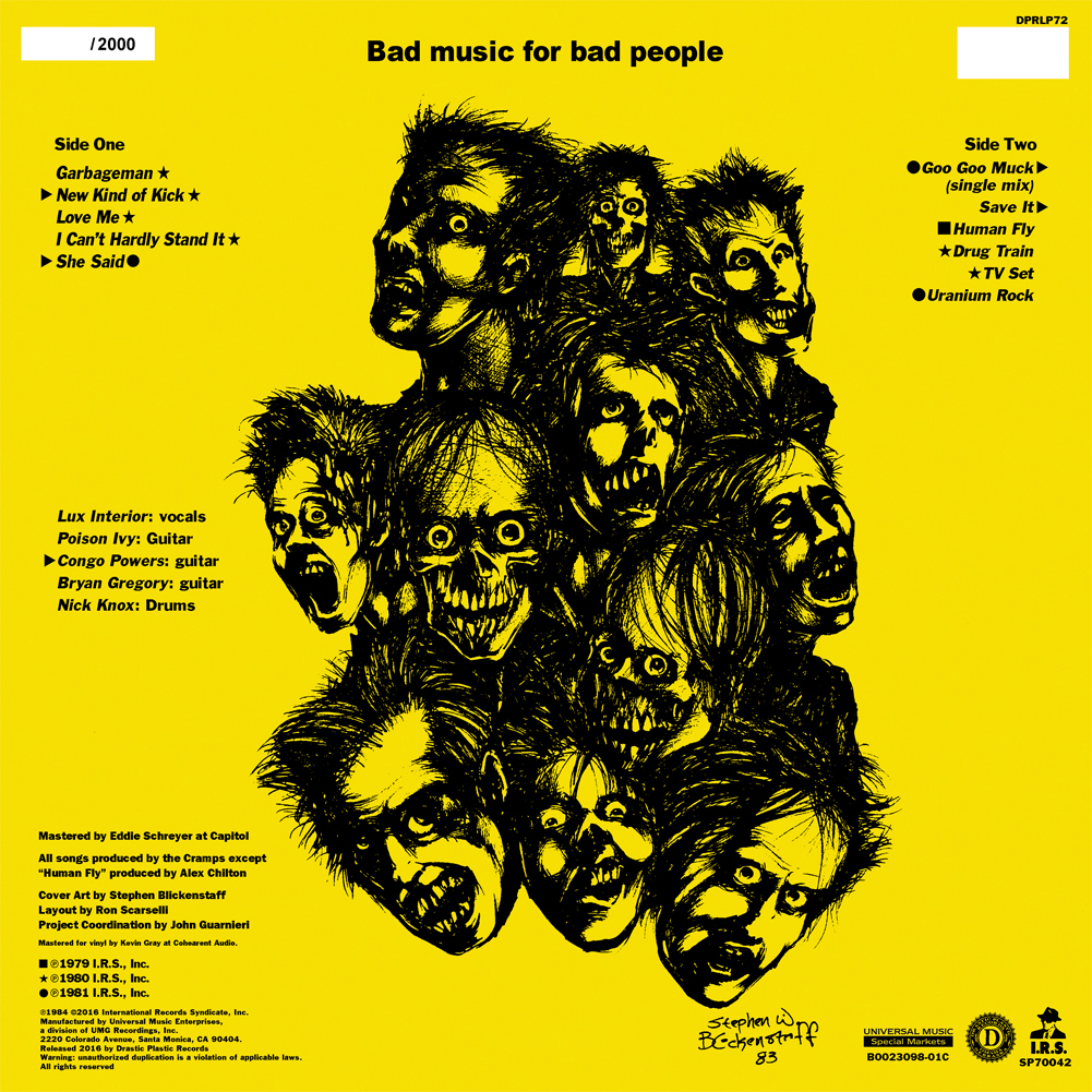 The Cramps Bad Music For Bad People 150 Gram Black Vinyl