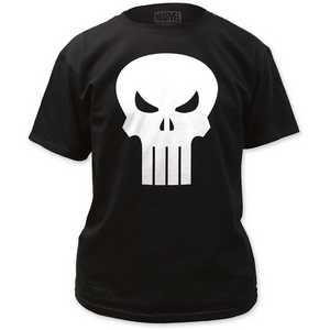 The Punisher White Logo Tee
