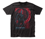 Black Widow Movie Global Poster fitted jersey tee