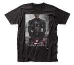 Captain America Poster - Fitted Jersey Tee