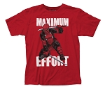 Deadpool Maximum Effort fitted jersey tee
