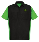 Monster Club Dickies Black/Green Short Sleeve Work Shirt
