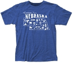 Greetings from Nebraska Postcard Tee (Unisex)