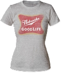 Good Life Nebraska Beer Tee (Women's)