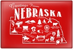 Greetings From Nebraska Postcard 2.5