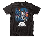 Star Wars New Hope Poster fitted jersey tee