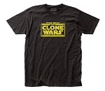 Star Wars Clone Wars Logo fitted jersey tee